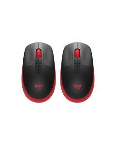 Logitech M190 Full Size Wireless Mouse Red (2pcs)