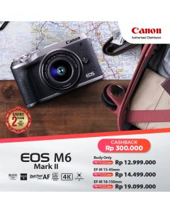 CANON EOS M6 Mark II with EF-M15-45mm - Black