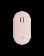 Logitech Pebble M350 Mouse Wireless Bluetooth Slim Silent - Rose