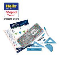 Maped Limited Edition - Helix Oxford Maths Set Splash Blue - Hang Pack