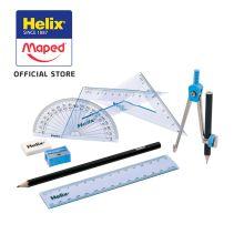 Maped Helix Maths Set Cool Curves 9 Pcs Asscol