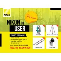 Nikon Theodolite NE 100 package