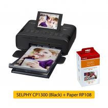 SELPHY CP1300 Black + Paper RP108