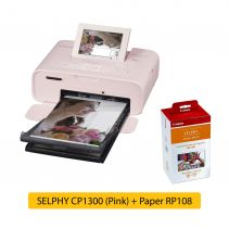 SELPHY CP1300 Pink + Paper RP108