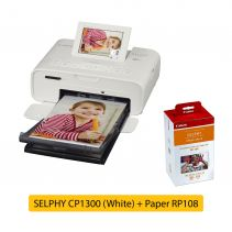 SELPHY CP1300 White + Paper RP108