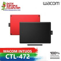New One by Wacom CTL-472 Digital Graphic Drawing Tablet Pad Small Free Softcase