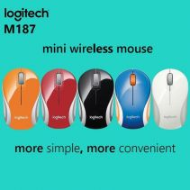 Logitech M-187 Wireless Mouse Red