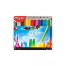 MAPED Water Color Pencils X24 - Metal Box