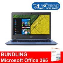 """[BUNDLING] ACER Aspire 3 A314-32-C000 [14"""", N4120, 4GB, 1TB, Win 10, Blue] + Microsoft 365 Personal"""