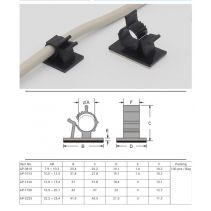 NYLON ADHESIVE CABLE CLAMP CLIP STEP 16 - 18