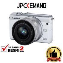 Canon EOS M200 Kit 15-45mm White GARANSI RESMI