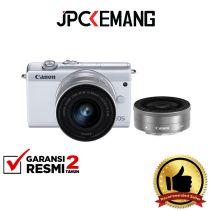 CANON EOS M200 Kit 15-45mm + 22mm White GARANSI RESMI
