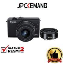 CANON EOS M200 Kit 15-45mm + 22mm Black GARANSI RESMI