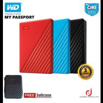 WD HDD EXTERNAL MY PASSPORT 1TB USB3.0 BLACK/WHITE/BLUE/RED ORIGINAL Termurah