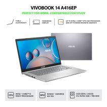 FREE OHS!ASUS VIVOBOOK A416EP-FHD5211(i5/8GB/1TB+256GB/MX330/W10)-Silver