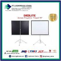 Datalite Layar Projektor Tripod - 70 Inchi