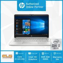 HP 14s-cf2075TU - Silver [i3 10110U-4GB-SSD 256GB-W10-OHS]