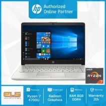 HP 14s-fq0013AU - Silver [Ryzen 7 4700U-8GB-SSD 512GB-W10-OHS]