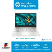 HP 14s-dq2519TU-390G5PA CEL-6305 4GB 512GB SSD W10 HOME
