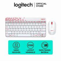 Logitech MK-240 Nano Wireless Combo White/Vivid Red