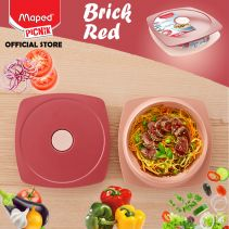 Maped Adult Lunch Plate 0.9 L - Brick Red