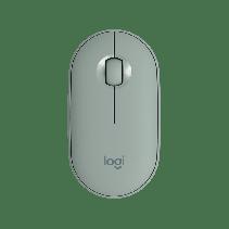 LOGITECH Wireless Mouse M350 Pebble - Eucalyptus