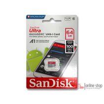 SanDisk Ultra MicroSDHC UHS-I A1 64GB Class 10 Kartu Memori MMC Original