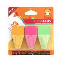 PRONTO Clip Tab 24 Sheets / Pack - Orange - Pink - Green