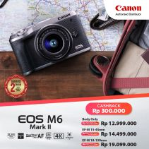 CANON EOS M6 Mark II Silver with EF-M18-150mm f/3.5-6.3 IS STM