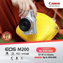 CANON EOS M200 with EF-M15-45mm f/3.5-6.3 IS STM -  White