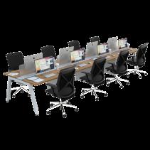 FIRM SATTU Desk 8 Person Configuration - Alder