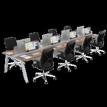 FIRM SATTU Desk 8 Person Configuration - Beech