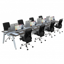 FIRM SATTU Desk 8 Person Configuration - Memphis Classic