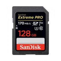 SanDisk Extreme Pro 128GB SDXC Memory Card Up To 170MB/S Class 10 U3 V31