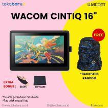 Wacom Cintiq 16HD DTK-1660/K1 Paket Lengkap